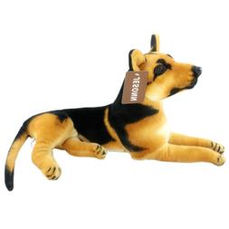 Jesonn Realistic Stuffed Toy Animals German Shepherd Dog Plu