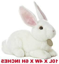 Realistic White Bunny Rabbit Pet Plush, Simulation Stuffed A