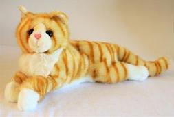 Reclining Orange Tiger Striped Cat - Stuffed Animal Therapy