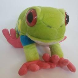 "Wild Republic Red Eye Tree Frog Plush 12"" Stuffed Animal Gre"