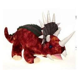 Large Red Triceratops Dinosaur with Sound Plush Stuffed Anim