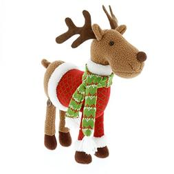 """Reindeer Plush 12"""" Christmas Pet Stuffed Doll - Great with Y"""