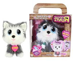 Rescue Runts Husky Plush Dog White/Gray KD Kids Stuffed Anim