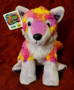 Retired 2015 Wild Republic Rare Pink Colorkins Wolf Plush Fa