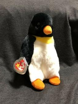 Retired Ty Beanie Baby Buddy - Waddle The Penguin - Large Pl