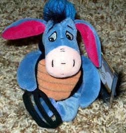 "Retired Disney Winnie the Pooh Baseball Catcher Eyore 9"" Plu"