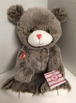 "Rouge Kaloo Cocoa Brown TEDDY BEAR 15"" Plush NWT Large Grayi"