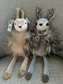 """Jellycat Roxie & Liza Reindeer 19"""" Plush Soft Stuffed Anim"""