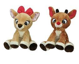 "Kids Preferred Rudolph and Clarice Bundle Plush Toy 6"" Jingl"
