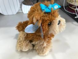"Nickelodeon's JOJO SIWA ""BOW BOW"" Blue Bow Plush Dog Puppy S"