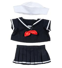 """Sailor Girl Outfit Teddy Bear Clothes Fits Most 14"""" - 18"""" Bu"""