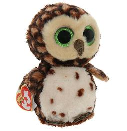 Ty Sammy Owl Plush, Brown, Medium