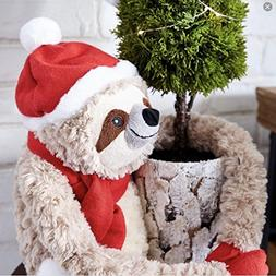 Pier 1 SCULLY THE HOLIDAY Sloth Plush Stuffed Animal - 2018