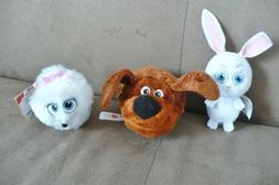 Secret Life of Pets 3 small stuffed/plush animals, Duke,Snow