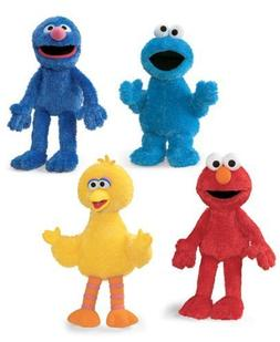 Set of 4 Sesame Street Dolls - Big Bird, Cookie Monster, Gro