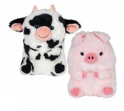 Set Of 2 Cow & Pig 7'' Plush Stuffed Animals Cuddle Play Toy