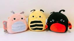 """Set of 3 Kellytoy Squishmallow 5"""" Bugs Life Bee Butterfly La"""