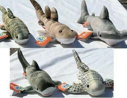 Set of 5 Wild Republic Shark Plush Toys Stuffed Animals - Ha