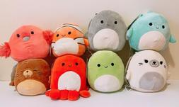 "Set of 8 Kellytoy Squishmallows Sea Animals 5"" Super Soft Mi"