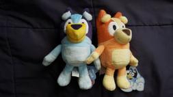 "Set of  Two 8"" Plush - Bluey and Bingo Stuffed Animal Figu"