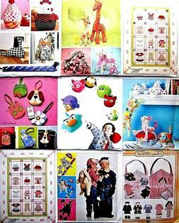 McCalls Sewing Pattern Crafts Stuffed Animals Toys Accessori