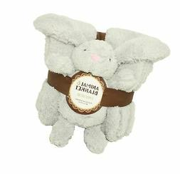 Silver One Sherpa Plush Stuffed Animal and Throw Blanket 2 P
