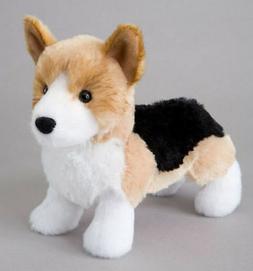"SHORTY Douglas 7.5"" plush TRI-COLOR CORGI DOG stuffed animal"