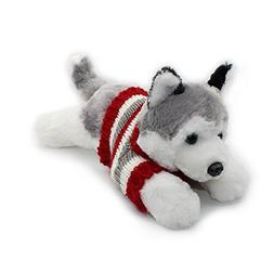 Vintoys Siberian Husky In Red T Shirt Lying Plush Puppies St