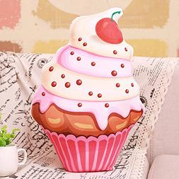 Simulation Cake Ice Cream Doll - Creativity Plush Toy Bolste