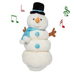 Singing Dancing Snowman Animated Plush Stuffed Animal Toy Li