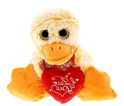 DolliBu Sitting Duck I Love You Valentines Stuffed Animal -