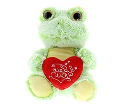 DolliBu Sitting Frog I Love You Valentines Stuffed Animal -