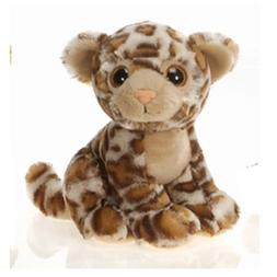 "9"" Sitting Jaguar with Big Eyes Plush Stuffed Animal Toy by"