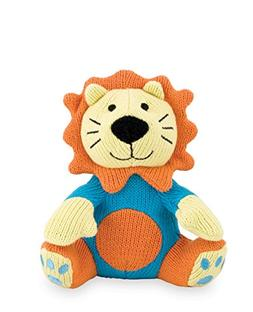 Rich Frog Sitting K'NIT Lion Knit Doll for Baby, Hand Knit M