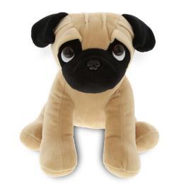 DolliBu Sitting Pug Stuffed Animal Dog Plush Toy Huggable Cu