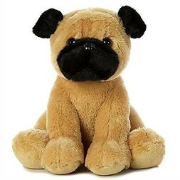 "Aurora 11"" Sitting Pugster Puppy Plush Stuffed Animal"