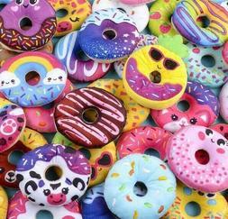 "Six 5"" Donut Plush Stuffed Animals Half Dozen Play Food Cute"