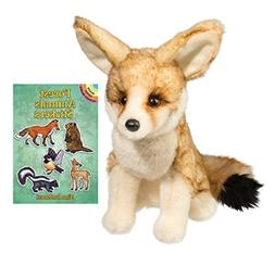 "Douglas Sly Fennec Fox 11"" Plush with Forest Animals Sticker"