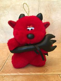 Fun World Small Red Devil Bear Plush Hanging Toy