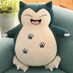 Smiley Snorlax Pokemon Plush Stuffed Animal Doll Figure 10''