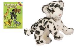 Douglas Snow Leopard Plush Animal with Zoo Animals Sticker B