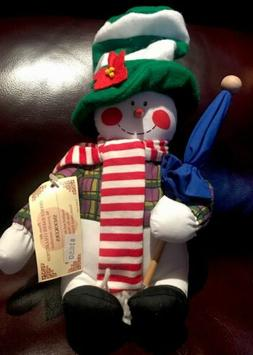 "Snowman Overly-Raker Inc. 12"" Plush Doll NWT Snookers Christ"