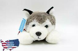 Vintoys Soft Plush Toy Lying Siberian Husky Plush Puppy Stuf