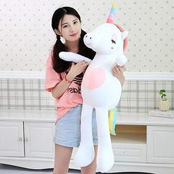 1Pc Large Soft Unicorn Animal Plush Toy Stuffed Toy Girl Gif