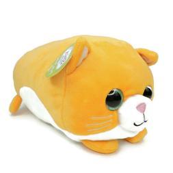 "Spark Create Plush Cat Orange White 12"" Big Eyes Long Stuffe"
