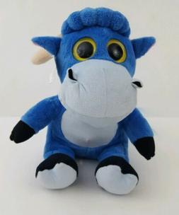 Dollibu Sparkling Big Eye Plush Soft Stuffed Animal Blue Ram