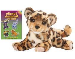 "Douglas Spatter Leopard Cub 14"" Plush with Jungle Animals St"