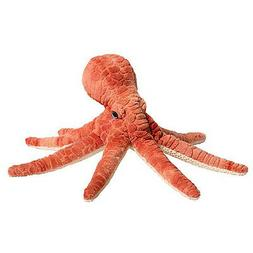 Spiney Small Orange/Red Octopus Stuffed Animal 12""