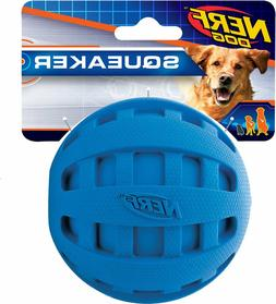 Nerf Dog Squeaker Checker Ball - 4-in Blue