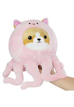 "Squishable Corgi in Pink Octopus 7"" Toy Stuffed Animal Plush"